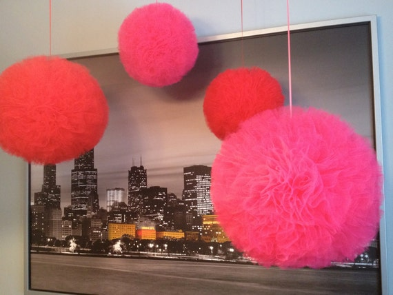 Custom listing for Amber Brenes Tulle pom pom, great for parties, baby showers, weddings,  or just add pizazz to a space