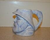 RESERVED FOR COASTALHOLLY-Grandfather Sea Blue and White Ceramic Mug