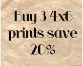 Deal - Buy 3 4x6 prints get 20% off