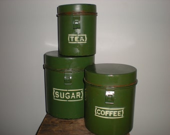 SALE/ metal canister set