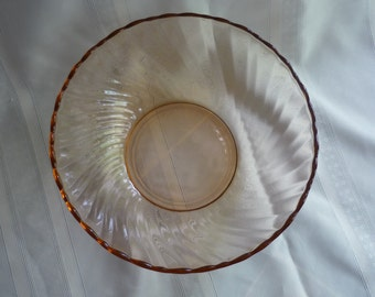 Gorgeous Pink Swirl France Serving Bowl Rosaline Pattern