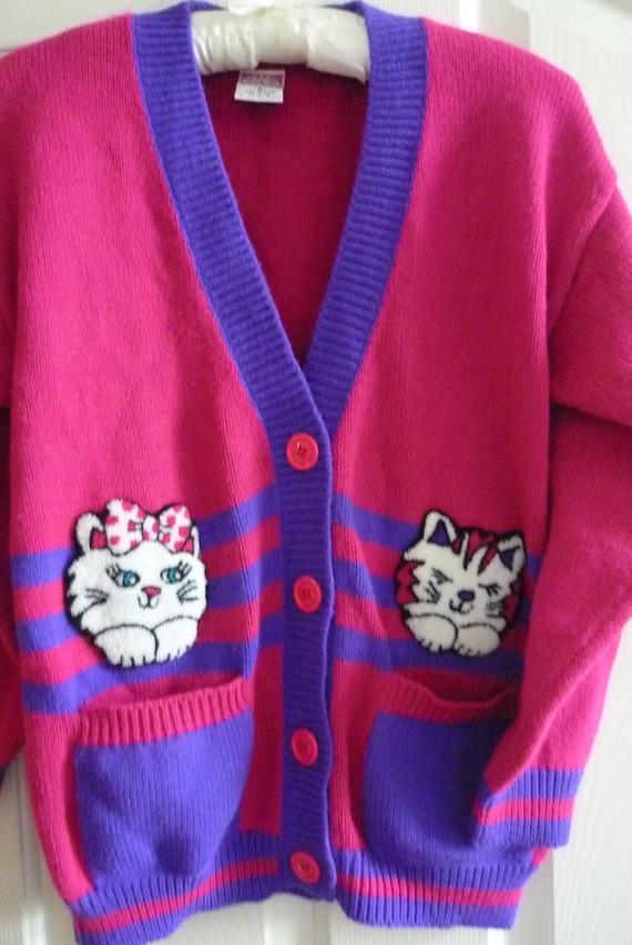 Cute Cat Cardigan Sweater