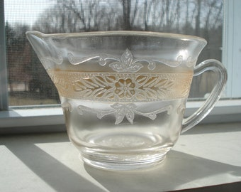 Vintage Pink  Depression Glass Creamer Excellent Condition 1930s Pretty Shabby Chic