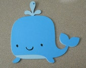 10 Cute Whale Invitations/Under the Sea Invitations