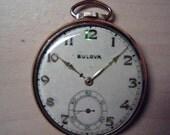 ultra rare vintage Bulova 15 Jewel pocket watch in gold case