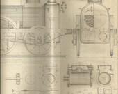 late 1800's train blueprint