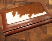 Womens Leather Wallet - Cowhide - Great Gift - Mother's Day - Free Shipping