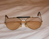 Vintage Bausch & Lomb Ray Ban Gold Olympic Sport Sunglasses from the 1970's