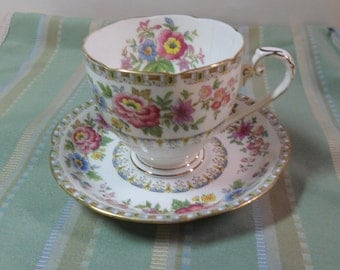 Grafton Floral Teacup and Saucer