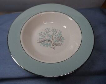 Vintage Sevron Blue Lace Bowls, Set of 2