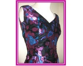 Handmade One of a Kind Purple and Blue Shimmery Dress Sz XS S 4 Gown Prom Formal