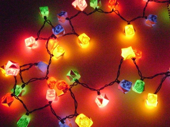 Harry Potter House Crest Origami Box String Lights