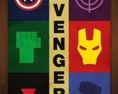"The Avengers Large Art Print - Poster Inspired by Comic Book and Film 'The Avengers' - 24""x36"""