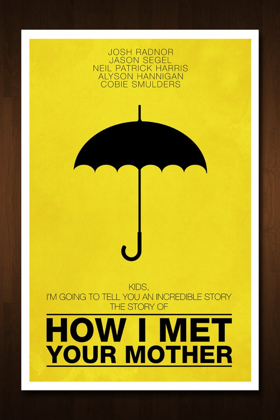 Yellow Umbrella How I Met Your Mother Poster Unavailable Lis...
