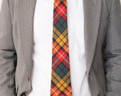 Male Wool Buchanan Tartan Plaid Necktie, Groom, Groomsmen Necktie