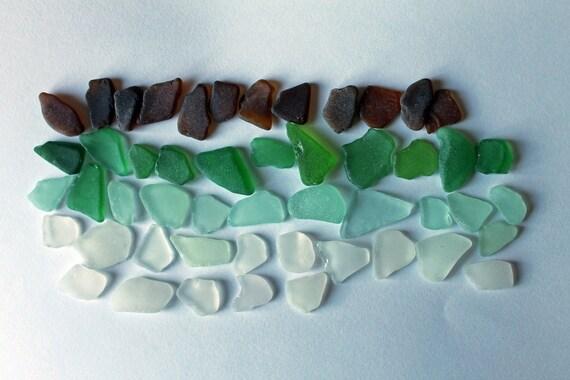 Sea Glass - 50 Random Color Pieces