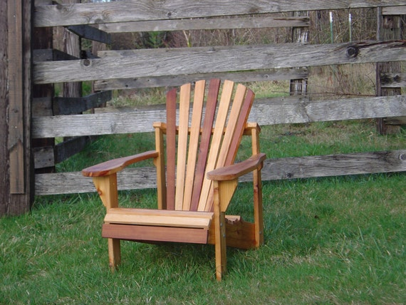 Zebra Striped Cedar Adirondack Chair