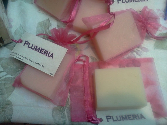 Plumeria Luxurious Cold Process Handcrafted Soap