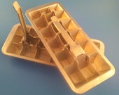 Perfect cubes from 2 Aluminum, 18-hole ice trays