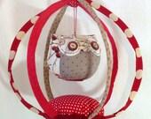 Matsumae I Mobile textile owl birdcage