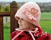 Girls hat ,Nuno Felted Children's Hat