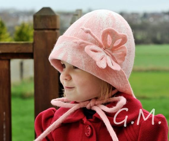 Girls hat ,Nuno Felted Children's Hat