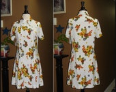 Mod All the Time / Vintage 1970s Harvest / A line / Shift / Sheath Dress /  ModCloth style / Large
