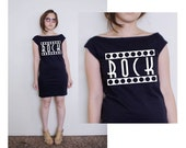 Rock American Apparel Black Fine Jersey T Dress avaliablie in size S, M, L