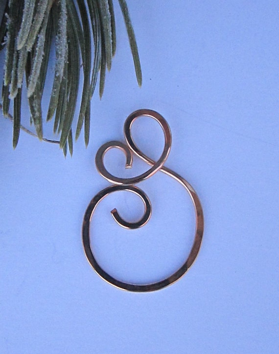 Handcrafted Free Form Bronze Charm Holder - Ring Holder