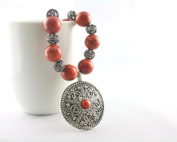 Coral Gifts 35th Wedding Anniversary: Items Similar To Red Coral Necklace -35th Anniversary Gift