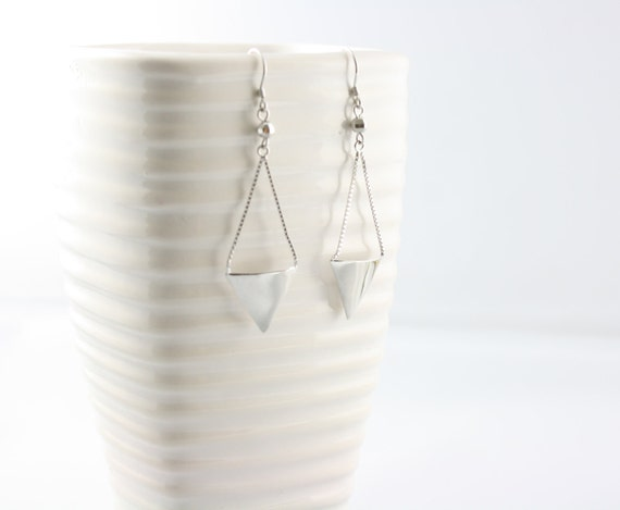 Triangle Earrings - Sterling Silver -Geometric Earrings