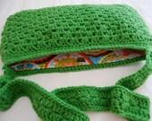 Crochet Pattern - Granny Stripe Messenger Bag