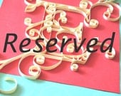 Reserved Listing for Mandy