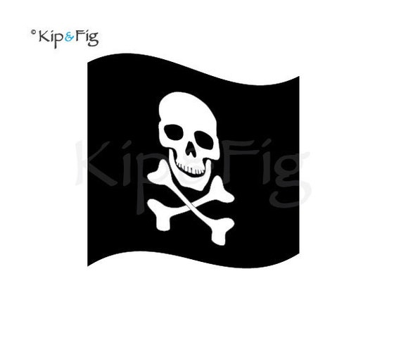 items similar to pirate jolly roger flag applique template