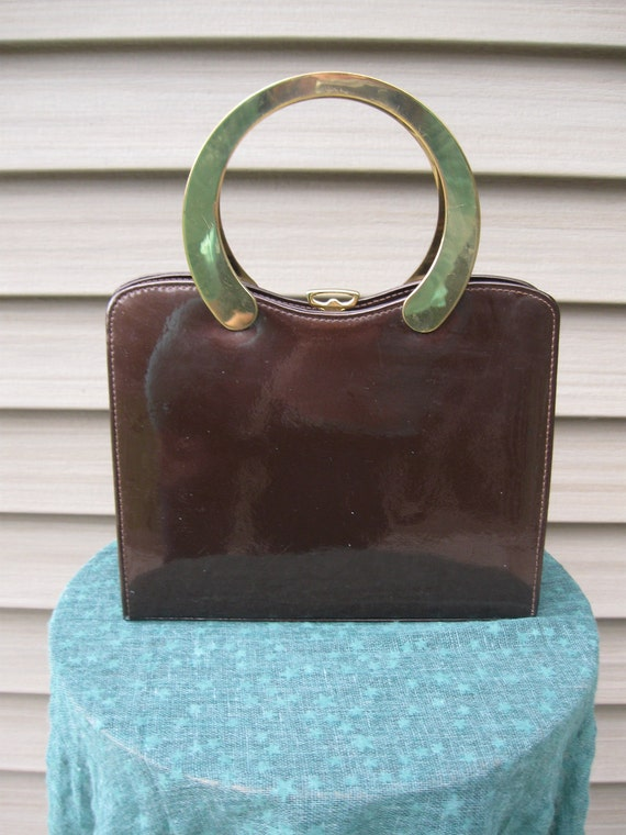 Classic Brown and Brass/Ackery 1960s Purse