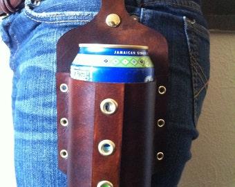 Handmade Leather Beer Holster
