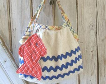 Deep Blue Sea - Girl's Purse PDF Pattern Tutorial  Summer Purse Tote Accessory Easy Sew