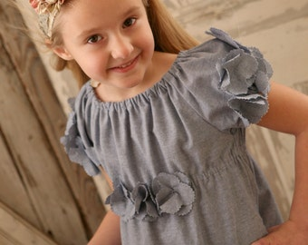 Peony - Flower Girl Dress. Party Dress PDF Pattern Tutorial, Easy Sew, sizes 12m-10 included
