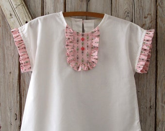 Peggy Sue - Ruffle Top and Dress Pattern - Girl's Sewing Pattern. Toddler Dress Pattern. Sizes 2-10