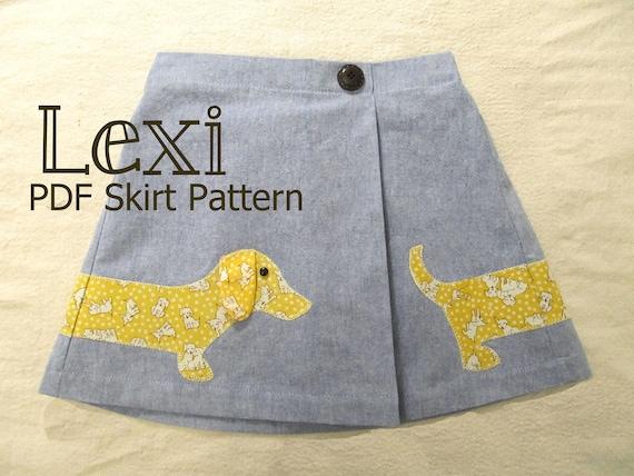 Lexi - Girl's Applique Skirt Pattern PDF. Girl Sewing Pattern. PDF Pattern. Toddler Pattern. Sizes 1-8