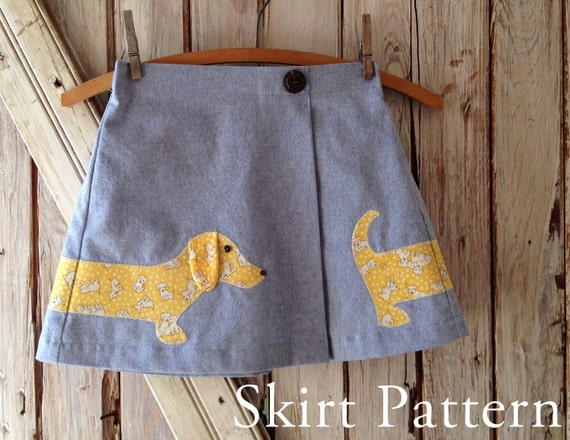 Lexi - Girl's Applique Skirt PDF Sewing Pattern. Girl Sewing Pattern.  Kids Clothing. Toddler Pattern. Sizes 1-8