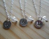 Flower girl sterling necklaces, personalized for your FAVORITE flower girls