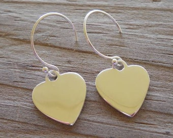 Sterling heart earrings..... Just waiting to be STAMPED..... Perfect for your Valentine.