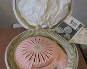Vintage 1960's Hair Dryer GE pink cream works model HD-11