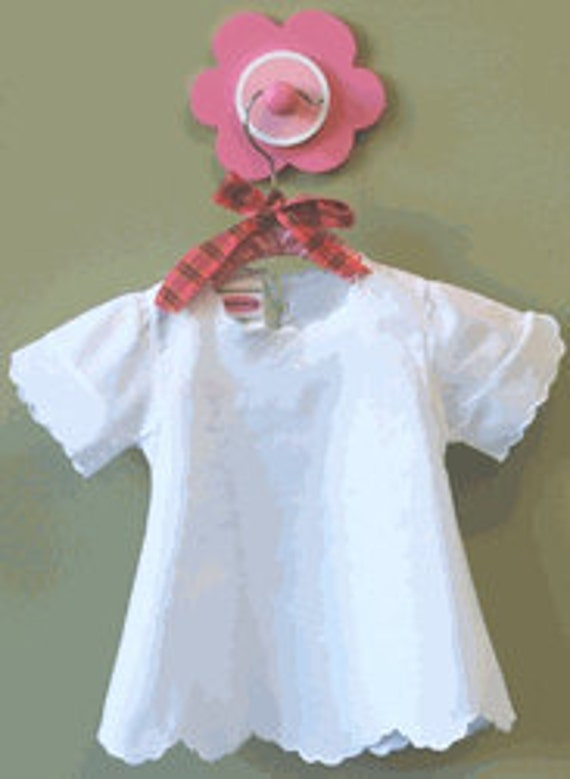 Little Girls Cotton dress with scalloped edges and fancy scalloped bloomers Set