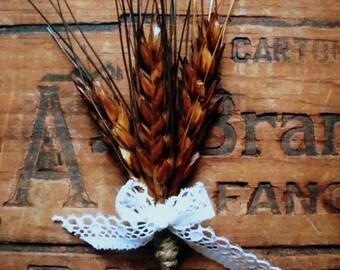 Harvest boutonniere (set of six)