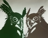 Papercut Owl - Original Hand-cut Paper Artwork - Bird Portrait