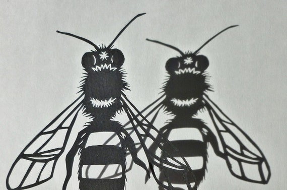Bee Papercut - Original Artwork