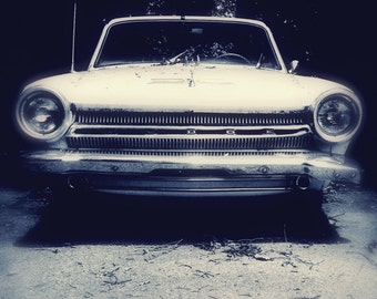 Car Photograph Dodge Dart Vintage Car Black and White Office Decor