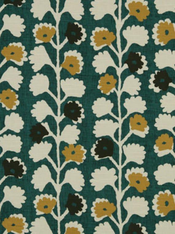 tissu d 39 ameublement vert meraude design par popdecorfabrics. Black Bedroom Furniture Sets. Home Design Ideas